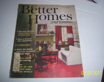 November 1961 Better Homes & Garden Magazine Living Room Paper Ephemera