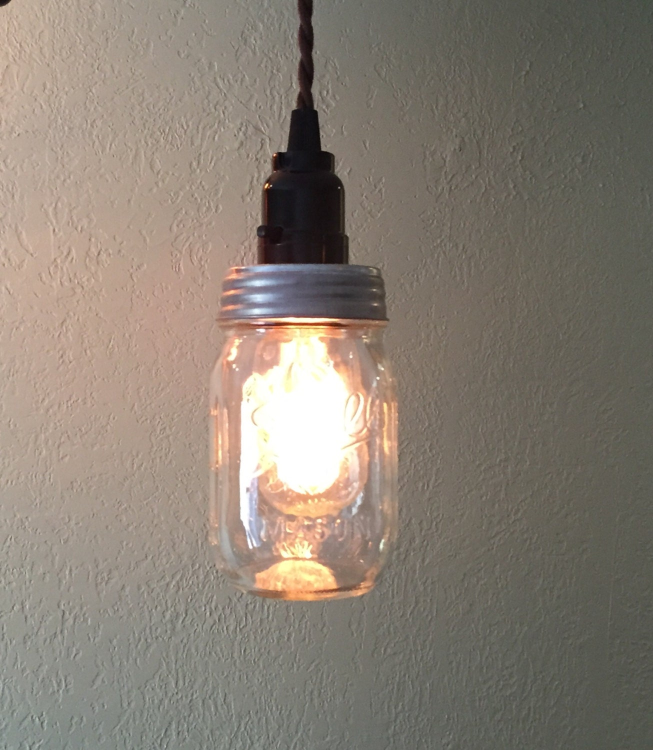 Ball jar pendant light mason jar light hanging mason jar zoom arubaitofo Gallery