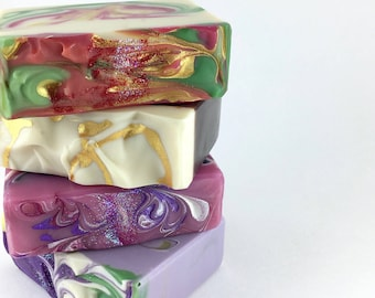 4 FOR 20 - YOUR CHOICE - Handcrafted Vegan Soap, Soap Gift Set, Soap Multi-Pack, Cold Process Soap, Soap Sale, EvieSoap, Palm Free Soap