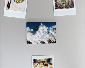Ceramic Fridge Magnet, K2 Mountain Climbing Alpinism Pakistan Himalayas Motivational, Funny Fridge Magnets, Refrigerator Magnet, FM149