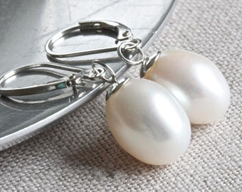 drop large earrings listing extra il stud studs freshwater white real pearl