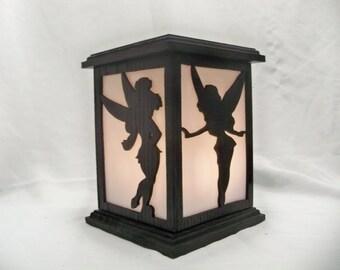 Tinker bell wood lantern