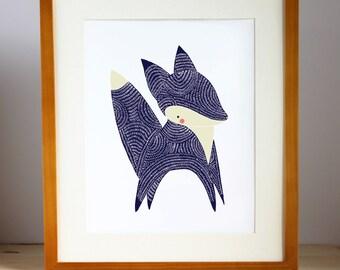 Baby Animal Nursery Art Prints, Fox Nursery Decor, Fox Wall Print, Picture Of Fox, Fox Baby Decor, Fox Illustration, Animal Art