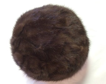 Item 1: Vintage Mink Pill Box Hat Pillow