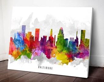 Baltimore Skyline Print,Baltimore Art, Baltimore Cityscape, Baltimore Art Print, Home Decor, Gift Idea, USMDBA13C