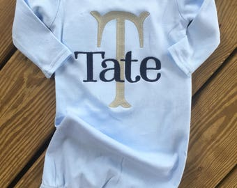 Baby boy name gown