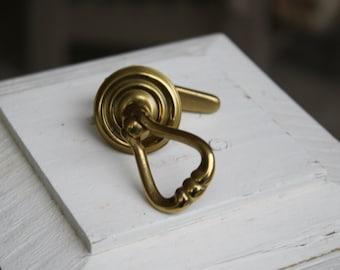 Vintage Brass Tear Drop Drawer Pull