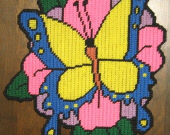 Springtime Butterfly Plastic Canvas Pattern
