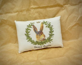 Easter Mini Pillow | Easter decor | Easter Basket filler  | Basket Stuffer | Farmhouse Easter pillow | Victorian bunny tuck | Easter Gift