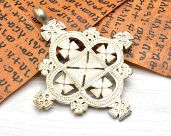 Ethiopian Coptic Cross Pendant christian religious Jewelry Gift