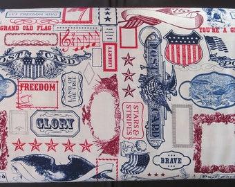 """Riley Blake Designs """"Lost & Found Americana"""" By Jen Allyson. 100% cotton, pattern C5980—MULTI Main."""