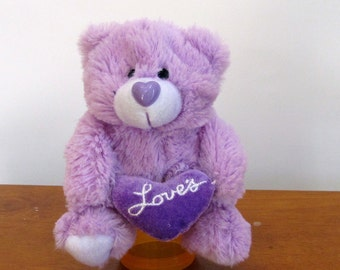 Lavender Love's Bear by The Puppet Patch