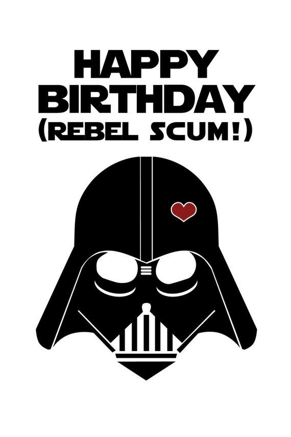 Star wars funny birthday card diy printable bookmarktalkfo Images