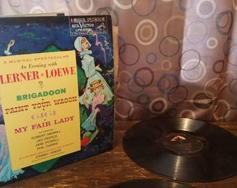 Brigadoon / My Fair Lady / Paint Your Wagon / Gigi / My Fair Lady Vinyl Records LP  Play / Theater / Broadway RCA Victor Records