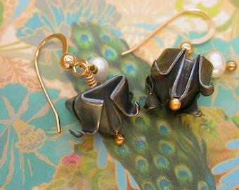 Fine Silver Tulip Earrings