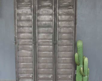 3 Door Restored Industrial Metal Locker