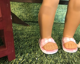 American made Spring or Summer doll sandals for American Girl doll or similar 18 inch doll