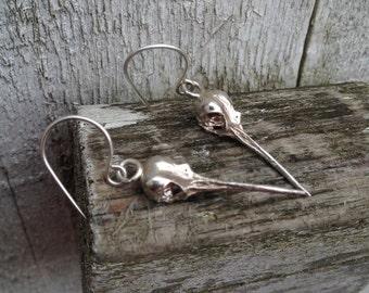 hummingbird skull earrings