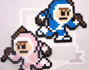 Ice Climbers Perler Bead Sprite Necklace || Super Smash Bros. || Gaming, Accessory, Wearable, Gift