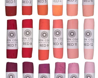 Unison Artist Quality Soft Pastels - Red 1 - 18