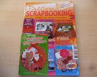 Book passion scrapbooking n 12 for the creation of Christmas memories