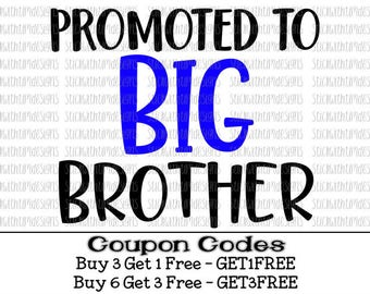 Promoted To Big Brother Svg Big Brother Svg Big Bro svg PNG Files Boy Svg Files For Silhouette Cameo Svg Files for Cricut Svg Cut Files