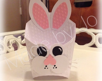 Bunny treat box. Silhouette Studio file. Digital cutting file.