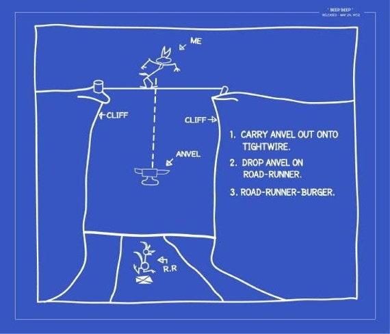 Wile e coyote blueprint 2 beepbeep looney tune episode like this item malvernweather Choice Image