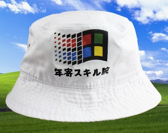 bf8af081 uk anime with hats anime windows japanese bucket hat a75dd 11e50