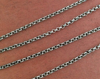 10m   2mm antique silver  Round  Necklace Chain