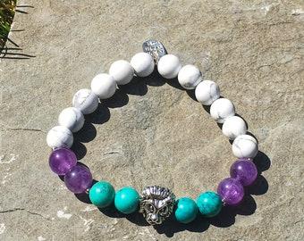 Calm and honest communication | Yoga Bracelet | Reiki Infused | Wrist Mala | Handmade Jewellery | Mala | Gifts For Her | Mala Bracelet