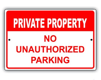 Private Property Aluminum Sign