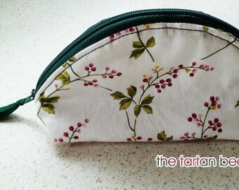 "small ""dumpling"" pouch - floral spray print"
