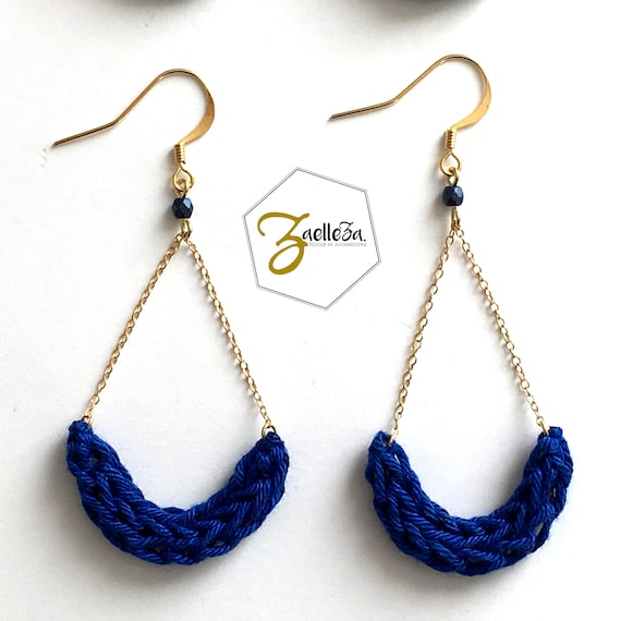 """Boucles d'oreille Bleu Outremer // Modèle ALESSIA // """"Coll. AURORE BOREALE"""""""