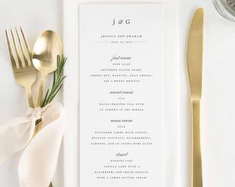 Jessica Dinner Menus - Deposit