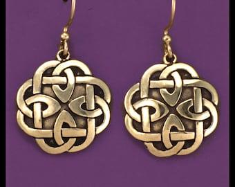 CELTIC KNOT WORK- Earrings- Bronze