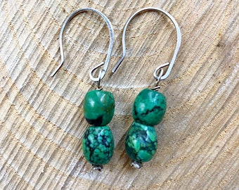 Kings Manassa mine / Turquoise Dangle Earrings