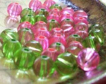 Watermelon - Bead Mix - 44 beads - 8mm