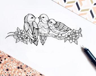 Custom tattoo sketch
