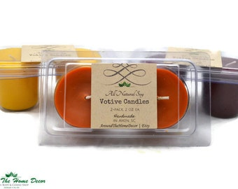 2 pack All Natural Soy Votive Candles. Pick a scent. 90+ Fragrances.