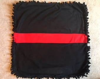 Thin Red Line Fleece Baby Blanket