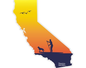 California Paddle Board Decal