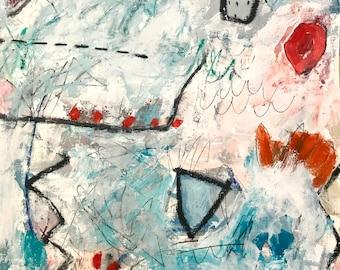 Original Abstract Art on paper, room decor, modern art