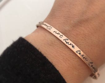Grief Gift - Forever would not have been long enough - Loss of a loved one - Memorial Bracelet - Sympathy