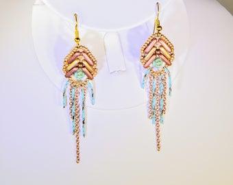 Star Beam Dangle Earrings