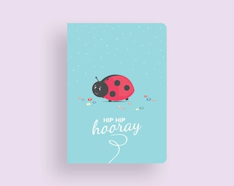 Birthday Card • Little Ladybug by Celebratink • Greeting Card • Green