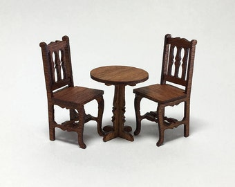 Quarter Scale Table and 2 Chairs Kit