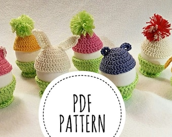 Pattern PDF Eastern egg crochet PATTERN Clothing for eggs Crochet eggs for Easter Easter decor, Easter eggs PATTERN Crochet pattern