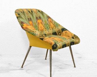 unique full restored vintage armchair forget me not