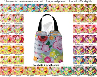 Auto Sneeze Box - Floral Burst - PICK YOUR COLOR - Car Accessory Automobile Caddy Tissue Case Flower